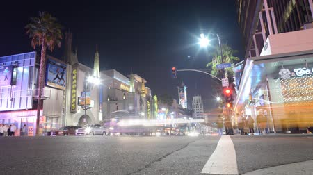 encruzilhada : Hollywood Night Time Lapse Intersection