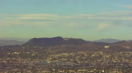 nostalgisch : Hollywood Sign Time Lapse Stockvideo