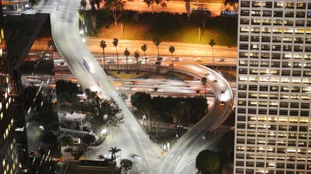 fari : Downtown Freeway Time lapse del traffico Ingrandisci