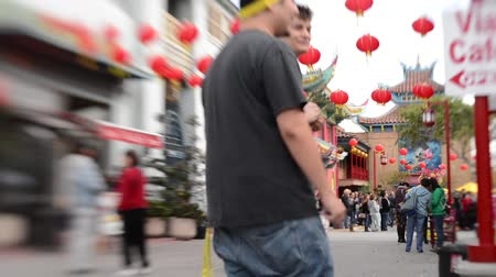 ano novo chinês : Chinese New Year Tilt Shift Time Lapse at Chinatown in Los Angeles