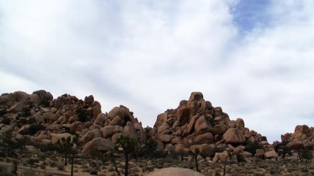 bouldering : Joshua Tree National Park Landscape Time Lapse Stock Footage