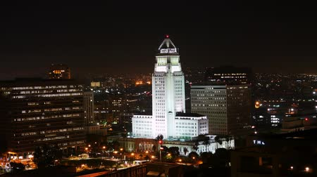 hala : Los Angeles City Hall at Night Time Lapse