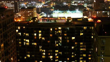 имущество : Urban Apartment Building Night Time Lapse