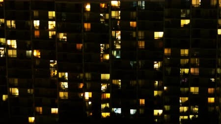immobilien : Urban Apartment Building Night Time Lapse