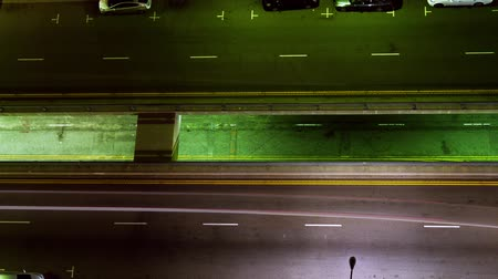 encruzilhada : Night Traffic on Street Time Lapse