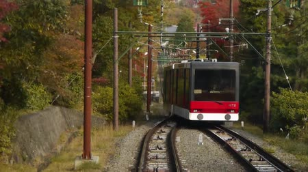 soft : Cable Car Descending Autumn Mountain in Japan