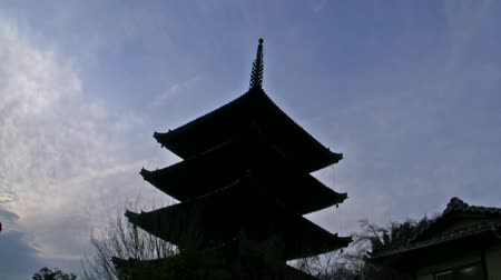 samuraj : Historic Japanese Architectures Time Lapse Wideo