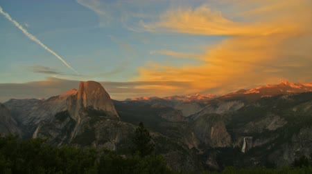 glacier point : Time Lapse of Sunset Afterglow over Half Dome in Yosemite