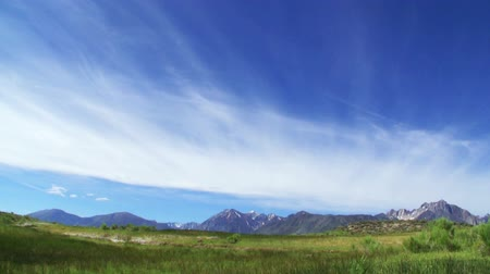 nevada : Time Lapse of Cloudscape over Alpine Mountain Range in High Sierra