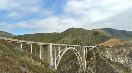 arch bridges : Time Lapse of Bixby Bridge in Big Sur California Stock Footage