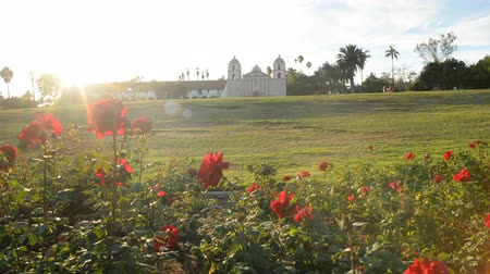 vallási : Motion Controlled Dolly Time Lapse of Mission Santa Barbara over Roses