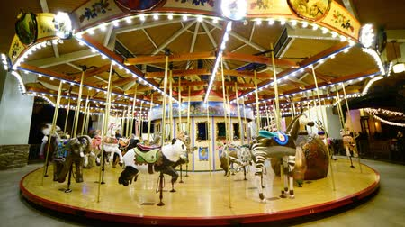 ripetizione : Time Lapse di Merry Go Round at Night