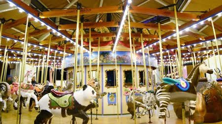 parky : Time Lapse of Merry Go Round at Night Zoom Out
