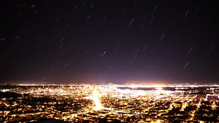 raster : Time-lapse van Star Trails dan Bay Area Cityscape Nacht tot Day