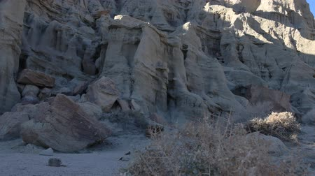 gleba : Motion Control DollyPan Time Lapse of Sunshine on Sandstone Formation Long Shot Wideo