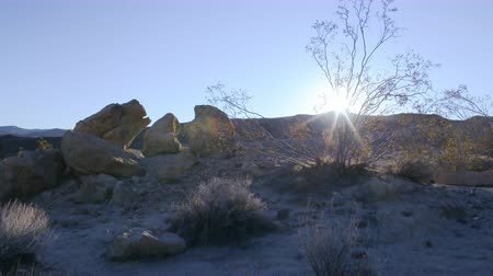 sinema : 4K Motion Control DollyPan Time Lapse of Sunrise over Desert Landscape Tilt Up