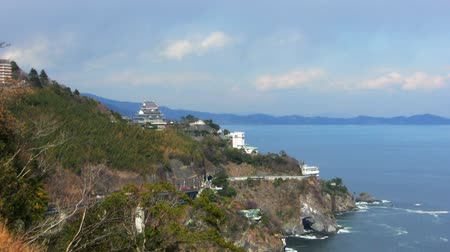 samuraj : Time lapse footage of Atami Castle on the rugged Pacific coastline of Japan