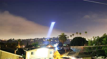 autoridade : Time lapse footage of LAPD Helicopter searching for suspect at night -Long Shot-