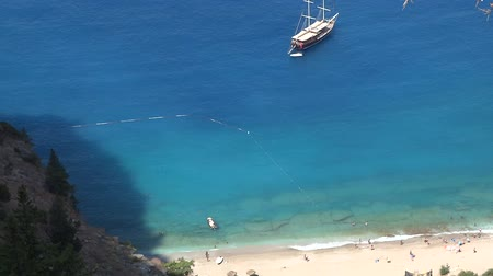 ravina : butterfly valley deep gorge in the mediterranean sea turkey Stock Footage