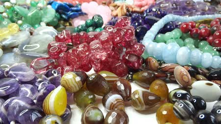 boncuklar : semigem necklaces and beads jewelery as fashion background
