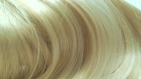 streaking : Blond highlight hair texture abstract background Stock Footage