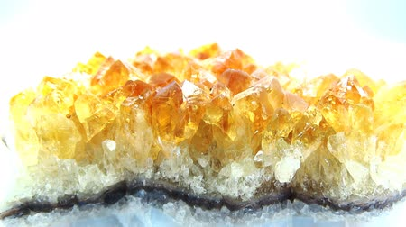 kamień : Citrine geode geological crystals