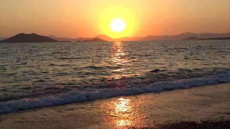 aegean sea : sunset in the mediterranean sea Turkey