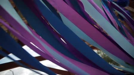 stuha : colored ribbons fluttering in the wind