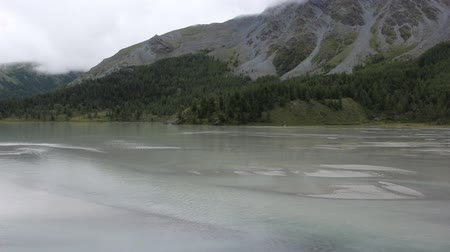 Akkem Lake on a cloudy morning, Altai Mountains, Russia