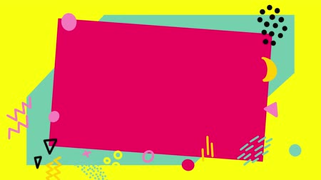 Animated popular pop art background in bright colors. 2D animation. Wideo