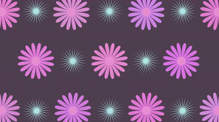 periódico : Abstract rotating flowers and spherical sparkles on the various hues background with seamless loop. 4K animation