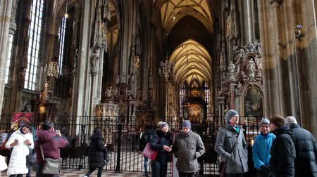 austrian : VIENNA, AUSTRIA - JANUARY 21, 2019 : Interior of St. Stephans Cathedral in Vienna. Stephansdom, Wien