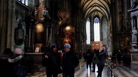 st stephen : VIENNA, AUSTRIA - JANUARY 21, 2019 : Interior of St. Stephans Cathedral in Vienna. Stephansdom, Wien