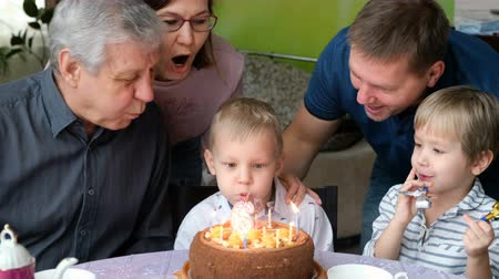 шесть : Multi Generation Family Celebrating Sons Birthday
