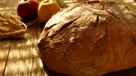 Fresh bread on the table.