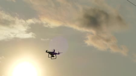 Quadrocopter in the sky.
