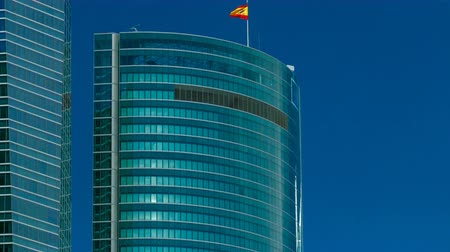 pwc : Top of skyscrapers timelapse in the Four Towers Business Area with the tallest skyscrapers in Madrid and Spain