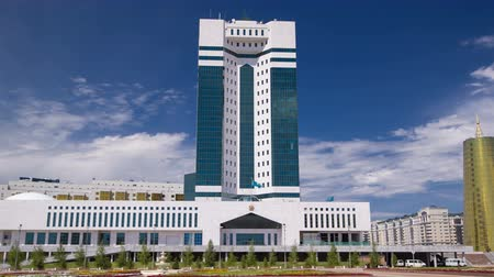 senate square : House of Parliament of the Republic of Kazakhstan timelapse hyperlapse, Astana