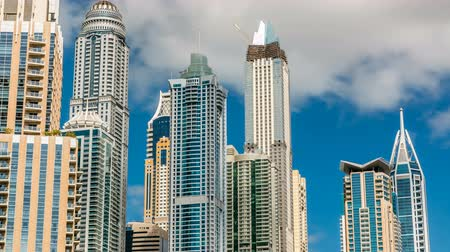 cayan tower : Luxurious Residence Buildings timelapse in Dubai Marina, UAE