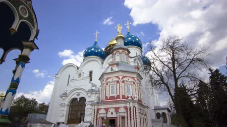 tome : Great monasteries of Russia timelapse hyperlapse. The Trinity-Sergius Lavra. Stock Footage