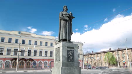 cassock : Monument to the founder of Yaroslavl - Yaroslav the Wise timelapse hyperlapse