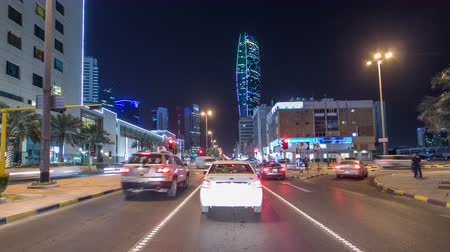 drive : Drive through the traffic in the city highway timelapse hyperlapse in Kuwait. Kuwait, Middle East