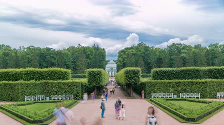 imperial : Tsarskoye Selo Pushkin timelapse, Saint Petersburg, Russia, Alley in the Park , Trees and shrubs