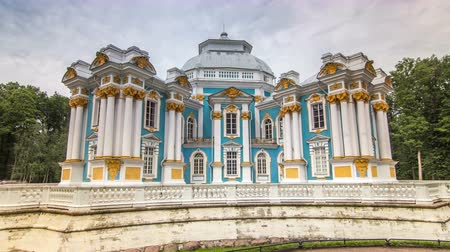arranging : Hermitage pavilion timelapse hyperlapse in Catherine park in Tsarskoe Selo near Saint Petersburg, Russia Stock Footage