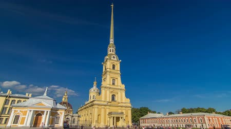 турель : Peter and Paul Fortress timelapse hyperlapse. Petropavlovskaya Krepost. Citadel of St. Petersburg, Russia
