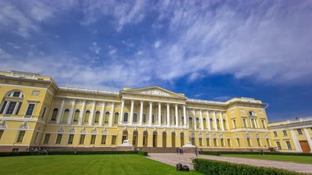 yerler : The State Russian Museum timelapse hyperlapse. ST.PETERSBURG, RUSSIA Stok Video