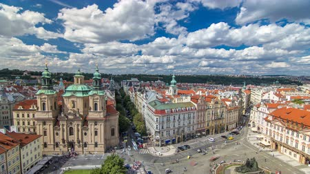 namesti : St. Nicholas Church and the Old Town Square timelapse, Prague, Czech Republic