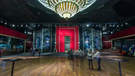 convenção : Beautiful elegant parquet hall in theatre timelapse hyperlapse