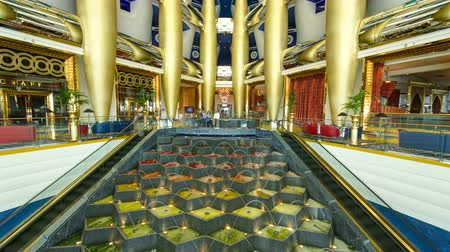 hotel suite : Interior Architecture Of Burj Al Arab timelapse in Dubai. Stock Footage