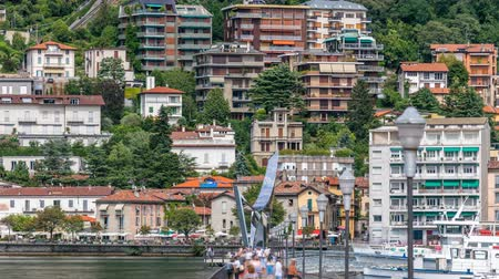 bellagio : Landscape with Lake Como timelapse, Lombardy, Italy Stock Footage